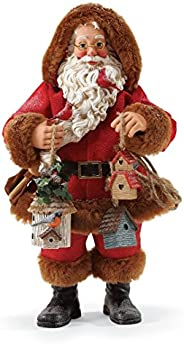 "Department 56 Possible Dreams Santa Claus ""Season's Tweetings"" Clothtique Christmas Figurine"