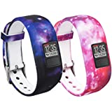 (2-Pack) - Garmin Vivofit 3 and Vivofit JR Fitness Bands With Secure Watch Clasp , BeneStellar Silicone Replacement Bands for Garmin Vivofit 3 and Vivofit JR[fits 6 22cm wrists]