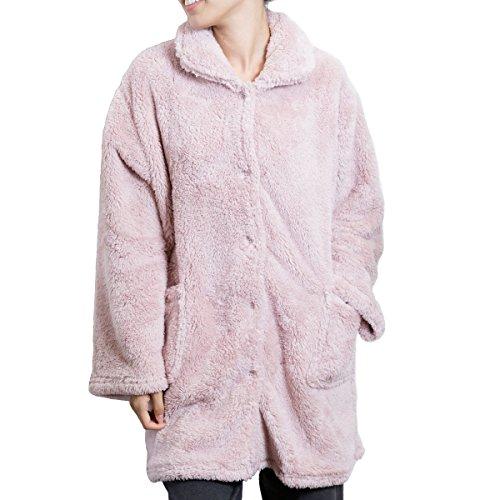 毛布屋さんのつくった 着る毛布 マイクロファイバー ルームウェア フリーサイズ ピンク