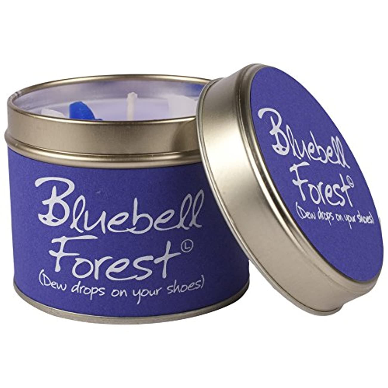 伝統暖かく投げ捨てるLily- Flame Scented Candle in a Tin Bluebell Forest (Pack of 2) - スズブルーベルの森でLily-炎香りのキャンドル (Lily-Flame) (x2) [...