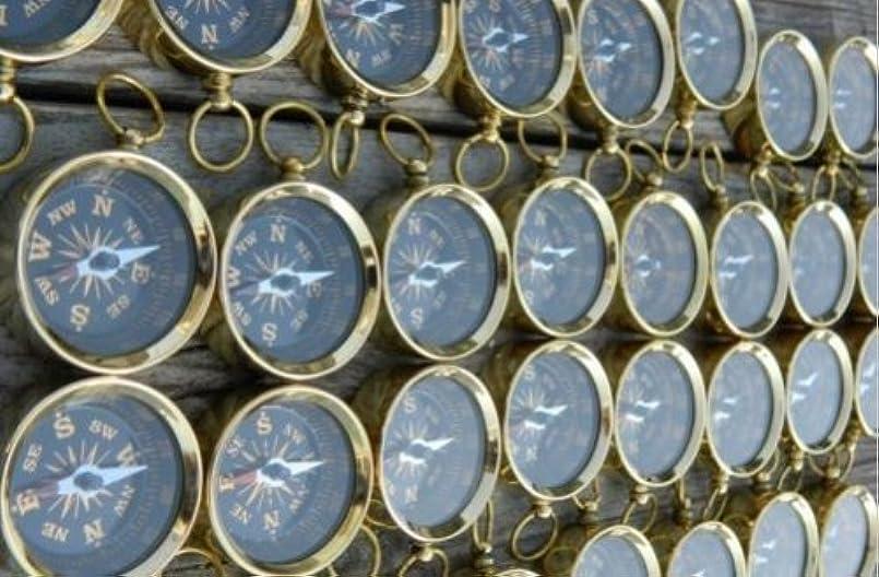 弱いコンサート残酷のセット1000個Nautical Maritimeヴィンテージスタイル真鍮ポケットコンパスキーチェーンハイキングナビゲーションコンパス
