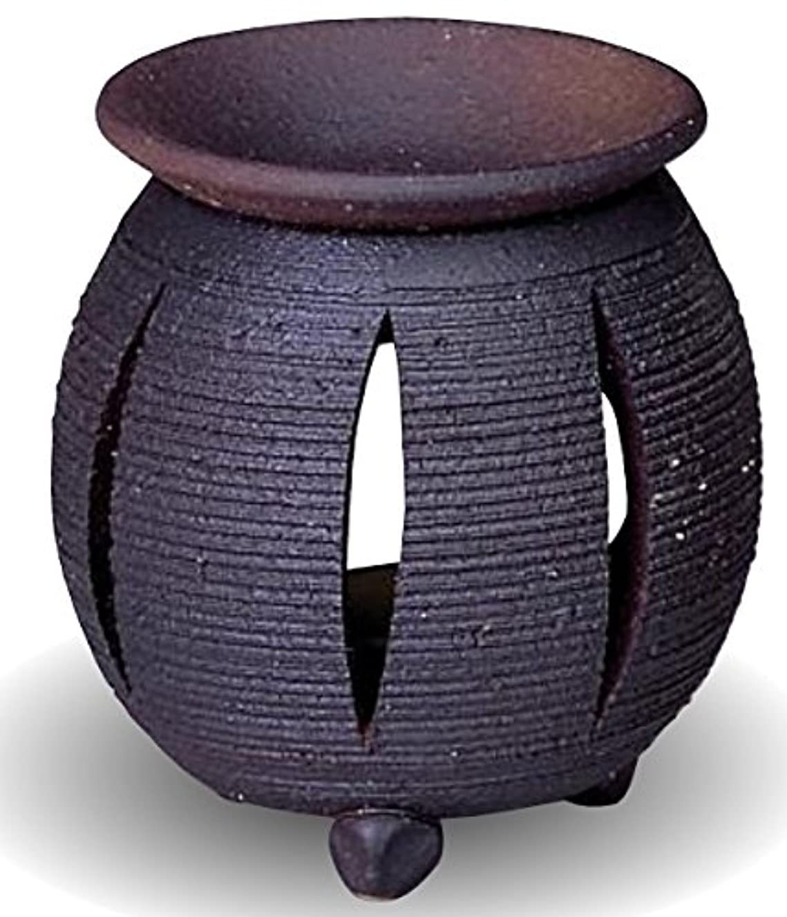 回るオープナーフラフープ常滑焼 茶香炉(アロマポット)径10×高さ11.5cm