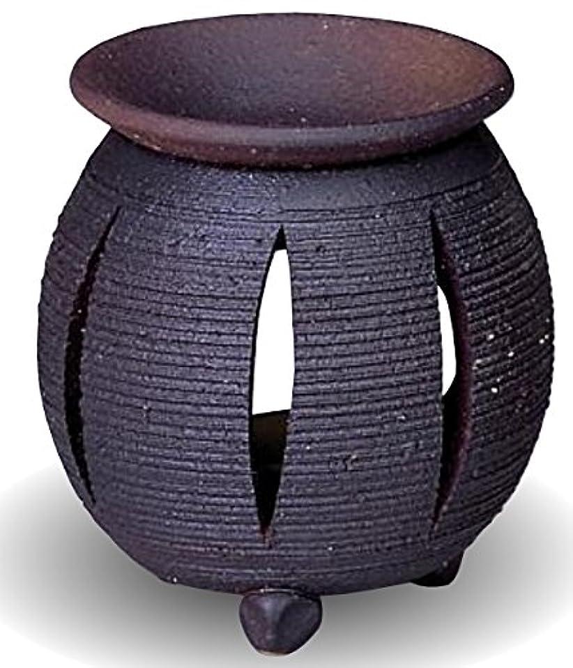 脚本証明書プロジェクター常滑焼 茶香炉(アロマポット)径10×高さ11.5cm