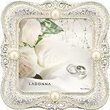 Amazon.co.jpLADONNA ブライダルフレーム メタル ホワイト 写真70 x 70mm MJ45-S2-WH
