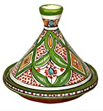 モロッコハンドメイドServing Tagine絶妙なセラミックwith鮮明な色元Medium 10インチAcross