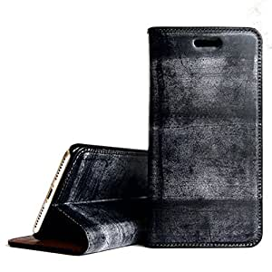 [UNDERCOOLED]ブライドルレザーで日本の職人が仕立てるプレミアムiPhone7Plus/8Plusケース 手帳型 ブラック