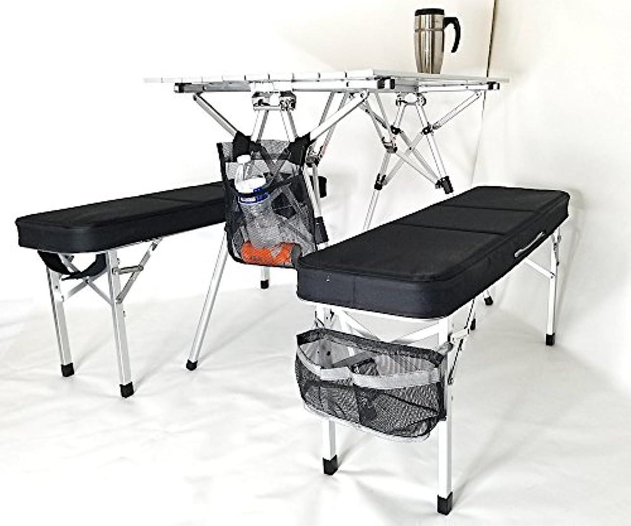 延期する寸法粗いOasis RAPTOR II デラックスコンパクトテーブル&ベンチセット 高耐久スタイル ユニーク軽量スーツケーススタイル ミリタリーグレード