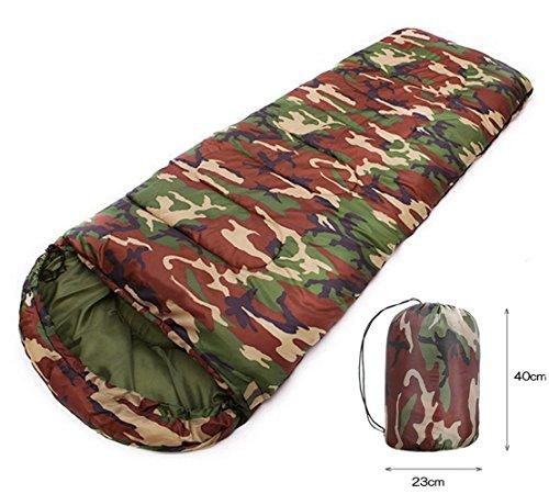 Smiletop 寝袋 ねぶくろ シュラフ 封筒型 軽量 アウトドア 登山 旅行 丸洗い コンパクト 収納袋付き 折り畳み 暖かい 快適温度5℃-20℃ (迷彩)