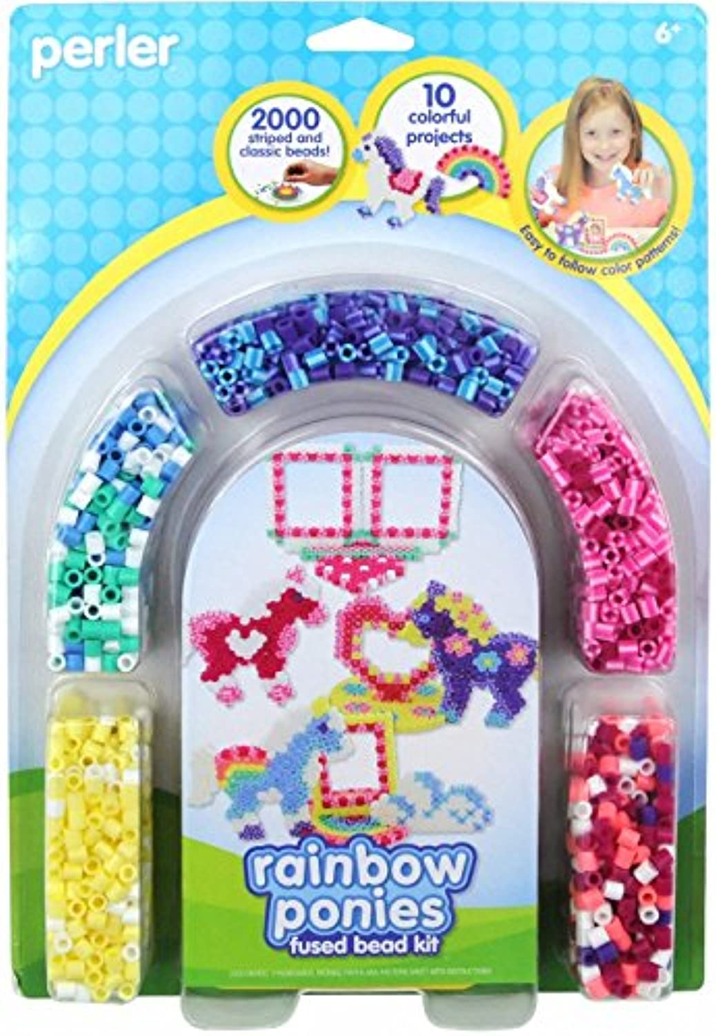 Perler Fun Fusion Fuse Bead Activity Kit-Rainbow Pony Frames
