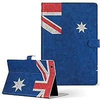 igcase dtab Compact d-02K docomo ドコモ タブレット 手帳型 タブレットケース タブレットカバー カバー レザー ケース 手帳タイプ フリップ ダイアリー 二つ折り 直接貼り付けタイプ 011713 オーストラリア 外国 国旗