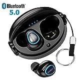 【Bluetooth5.0進化版】Bluetooth イヤホン ワイヤレス ブルートゥース イヤホン 自動ペアリング 高音質 左右分離型 左右両耳対応 iPhone/Android適用 新版充電式収納ケース付
