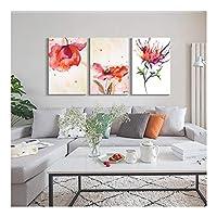 フォトウォールフレームレスターポリン装飾絵画壁掛け寝室リビングルームホーム背景壁絵画トリプルウォールアート (Color : D, Size : 50cm*75cm)