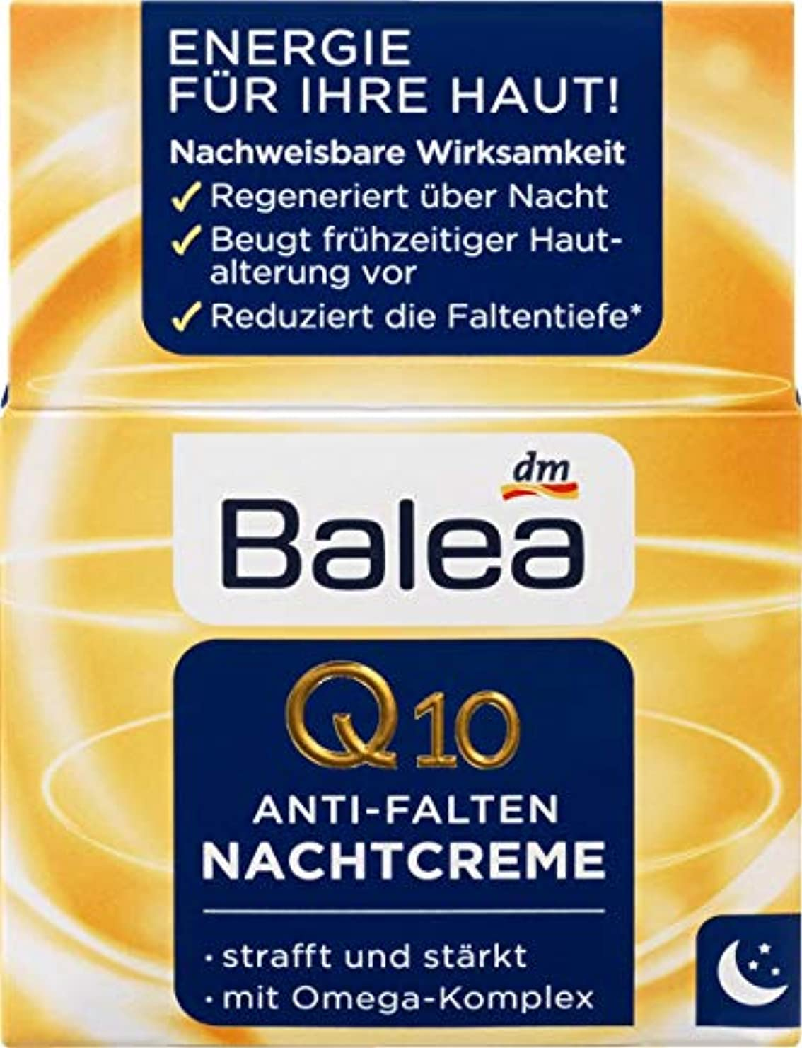 男葉を集めるボンドBalea ナイトクリーム Night Care Q10 Anti-Wrinkle 50 ml