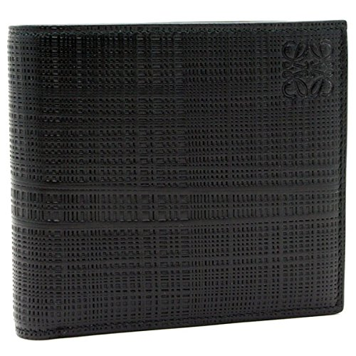 (ロエベ) LOEWE【LINEN】 二つ折り財布NEGRO/BLACK (ブラック)10188501 1100 [並行輸入品]