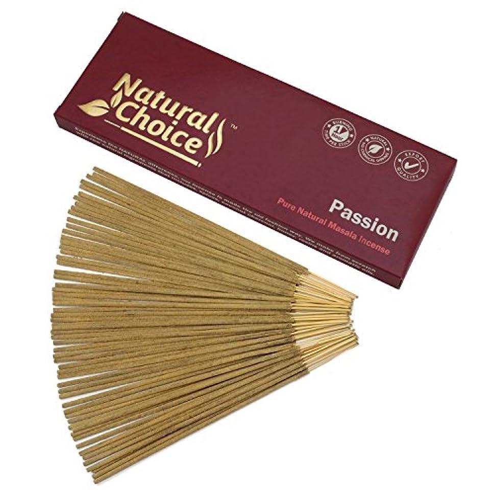 面倒大学生許容できるNatural Choice Incense Passion Incense Sticks 100 gm – Made from Scratch – No Dipping