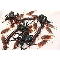 大量 セット 害虫 フェイク ゴキブリ ムカデ クモ ドッキリ おもしろ ジョーク グッズ (ゴキ20ムカ3 蜘蛛 1)