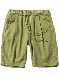 ANGELCITY ショートパンツ ビーチパンツ ワイドパンツ 短パン メンズ ファッション 綿 五分丈 カジュアル 無地 調整紐 ゆったり 夏 カラー PWJS24