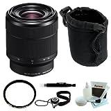 Sony sel2870FE 28–70mm f / 3.5–5.6OSSフルフレームレンズ+ Tiffen 55mm UVプロテクター+ SmallネオプレンDSLRカメラレンズポ..