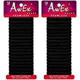 AwEx Super Elastic Ponytail Holders, Strong Hair Ties (Super Elastic,Small)