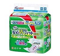 サルバ 安心 Wフィット 男女共用 M 10枚入 【ケース販売】 4袋/ケース