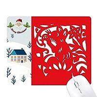 中国の十二宮動物紙切りラット サンタクロース家屋ゴムのマウスパッド
