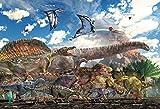 150ピース ジグソーパズル 恐竜大きさ比べ ラージピース (26x38cm) 画像