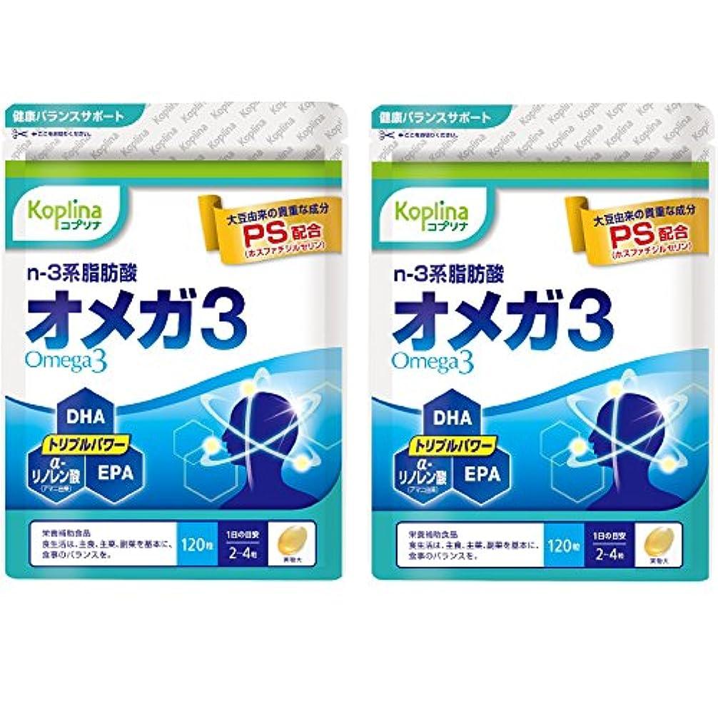 麻酔薬忍耐ただやるオメガ3(PS ホスファチジルセリン配合) 120粒 国内製造 2個セット