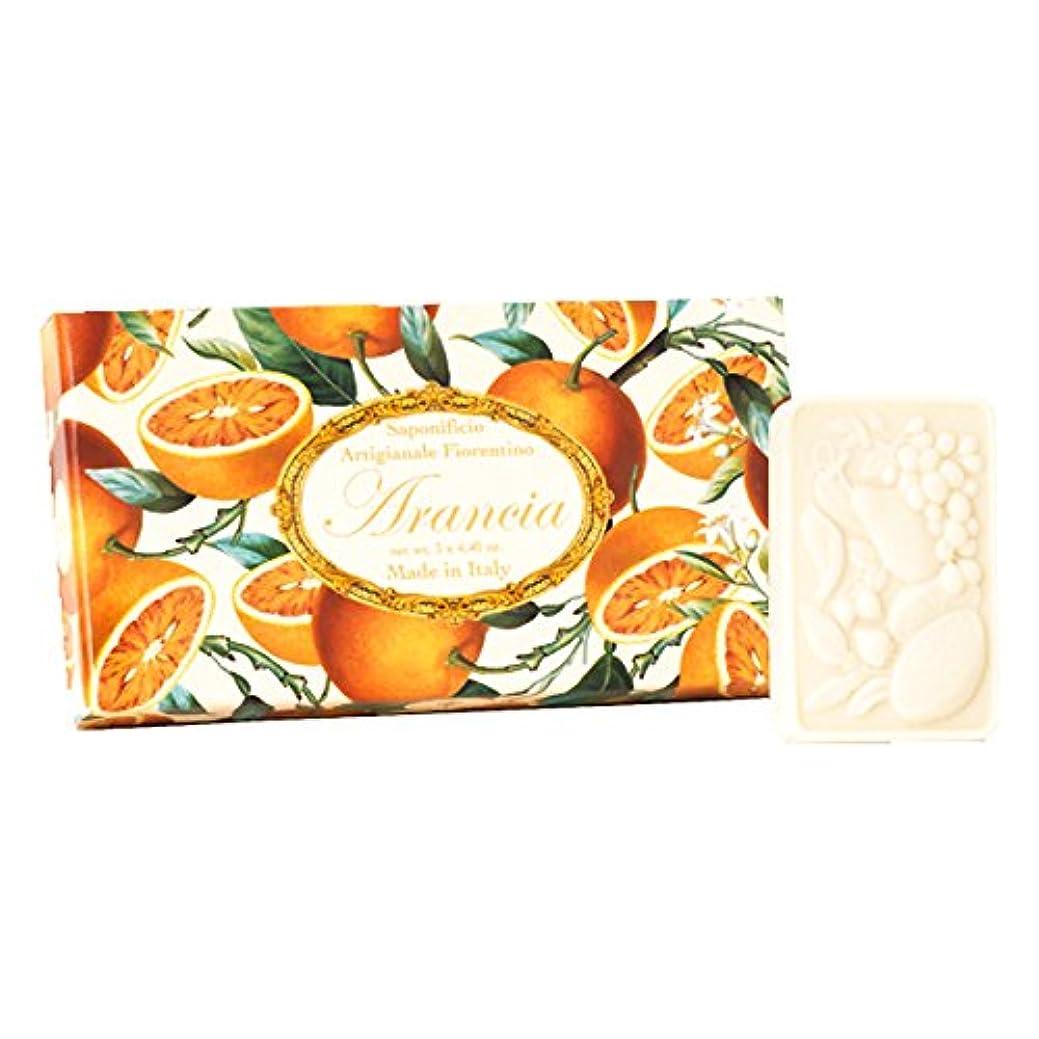 キノコ正義考えたフィレンツェの 長い歴史から生まれたこだわり石鹸 オレンジ【刻印125g×3個セット】