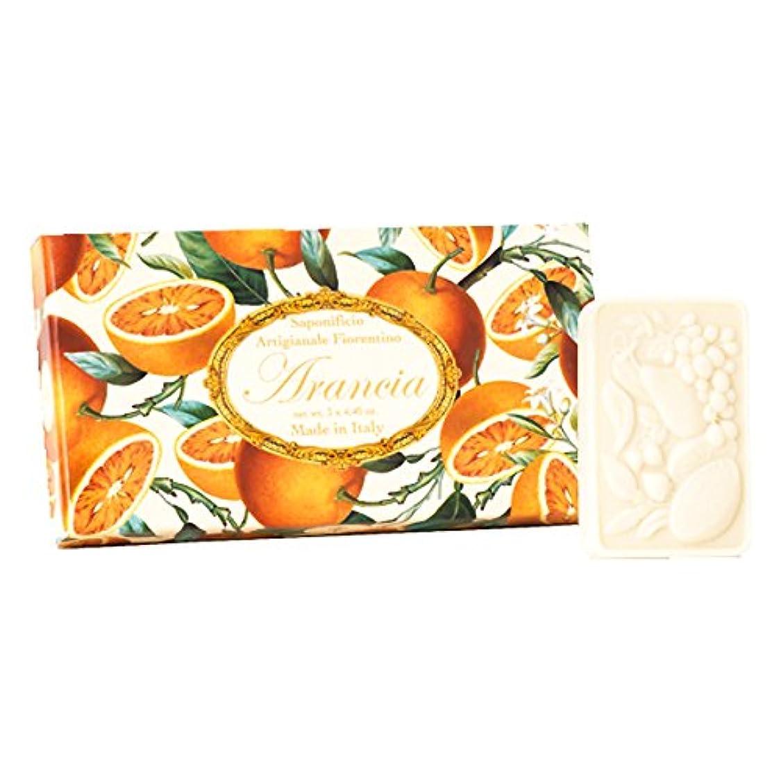休日に咽頭クレーンフィレンツェの 長い歴史から生まれたこだわり石鹸 オレンジ【刻印125g×3個セット】