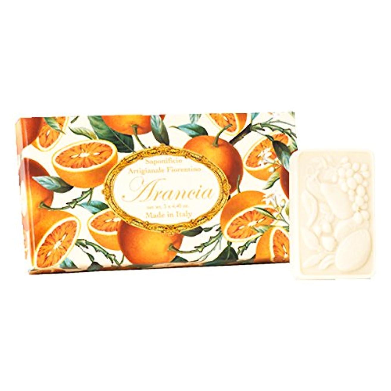 ストレッチクローン裏切り者フィレンツェの 長い歴史から生まれたこだわり石鹸 オレンジ【刻印125g×3個セット】