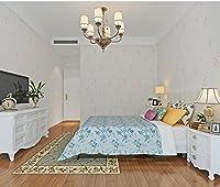 Wapel ワペルシンプルな花の不織布の壁紙の寝室の寝室、白