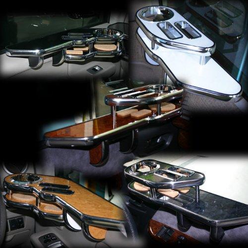 [日産/ニッサン]シーマ≪F50≫サイドテーブル(運転席用)【カラー設定:ブラックウッド】コースター付属