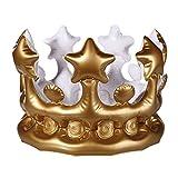CCINEE 王様の王冠 王冠バルーン クラウン風船 ヘッドドレス アルミバルーン デコレーション 出産祝い 誕生日 パーティー 二次会..