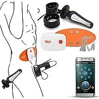 電動アナルプラグ ペニスリング付き 電気ショック 強烈振動 スマホと連動で遠隔操作可能 ブルートゥース搭載 USB充電式 男性用 オナニー(M)