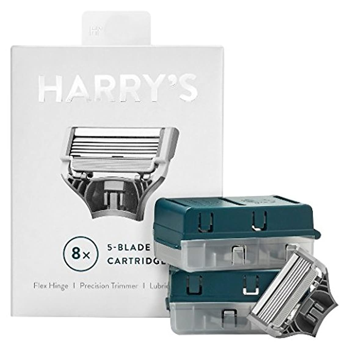 騒々しい中性ハムHarry's Men's Razor Blade Refills 8ct ハリー メンズカミソリブレード、替刃8個 [並行輸入品]