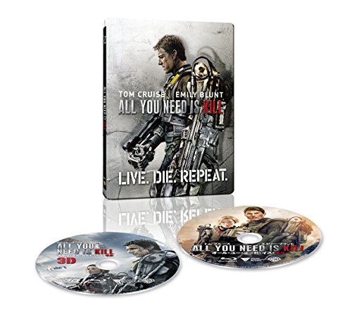 【Amazon.co.jp限定】オール・ユー・ニード・イズ・キル 3D & 2D ブルーレイセット スチールブック仕様(完全数量限定/2枚組/デジタルコピー付) [Blu-ray] -