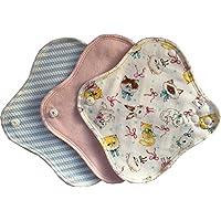 (すぃーと・こっとん) sweet cotton 布ナプキン ネルライナー3枚セット 綿100% パンティライナー(ミルキーキャットセット)
