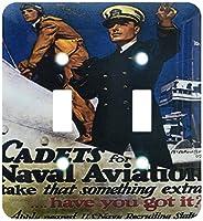 3drose LSP _ 149422_ 2ヴィンテージCadets for海軍米国海軍航空募集ポスターダブル切り替えスイッチ