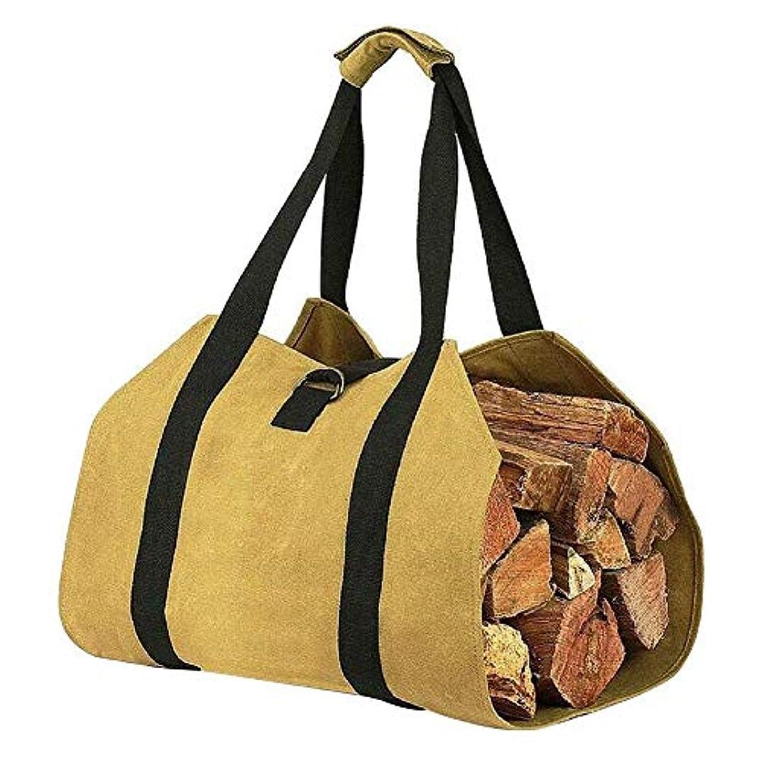 薪収納袋、キャンバスマッチ収納袋、ポータブル、アウトドア、マッチ収納袋,薪収納袋,薪トートバッグ, 防水, 折りたたみ,アウトドア,キャンプ