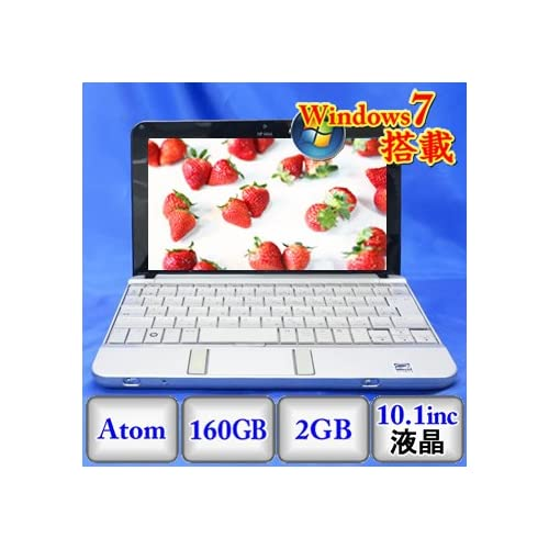 【中古ノートパソコン】HP HP mini 2140 [NN906PA#ABJ] -Windows7 Professional 32bit Atom 1.6GHz 2GB 160GB ドライブ なし 10.1インチ(P1114N084)