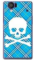 スカルパンク ブルー (クリア) / for AQUOS PHONE 102SH/SoftBank スマートフォン スマフォ ケース カバー SECOND SKIN