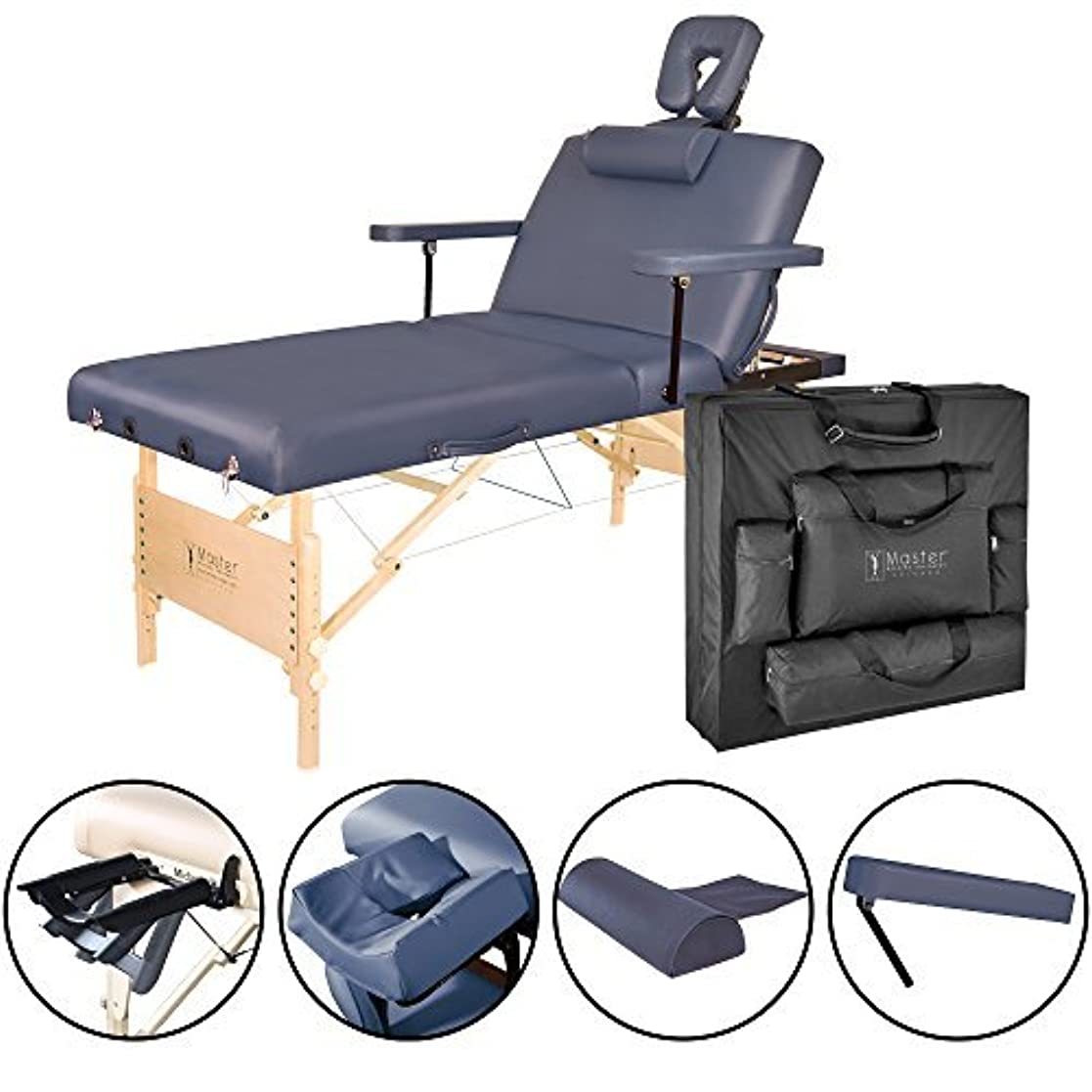引っ張る化石メンタルMaster Massage Coronado Salon LX Portable Massage Table Package Royal Blue 31 Inch [並行輸入品]