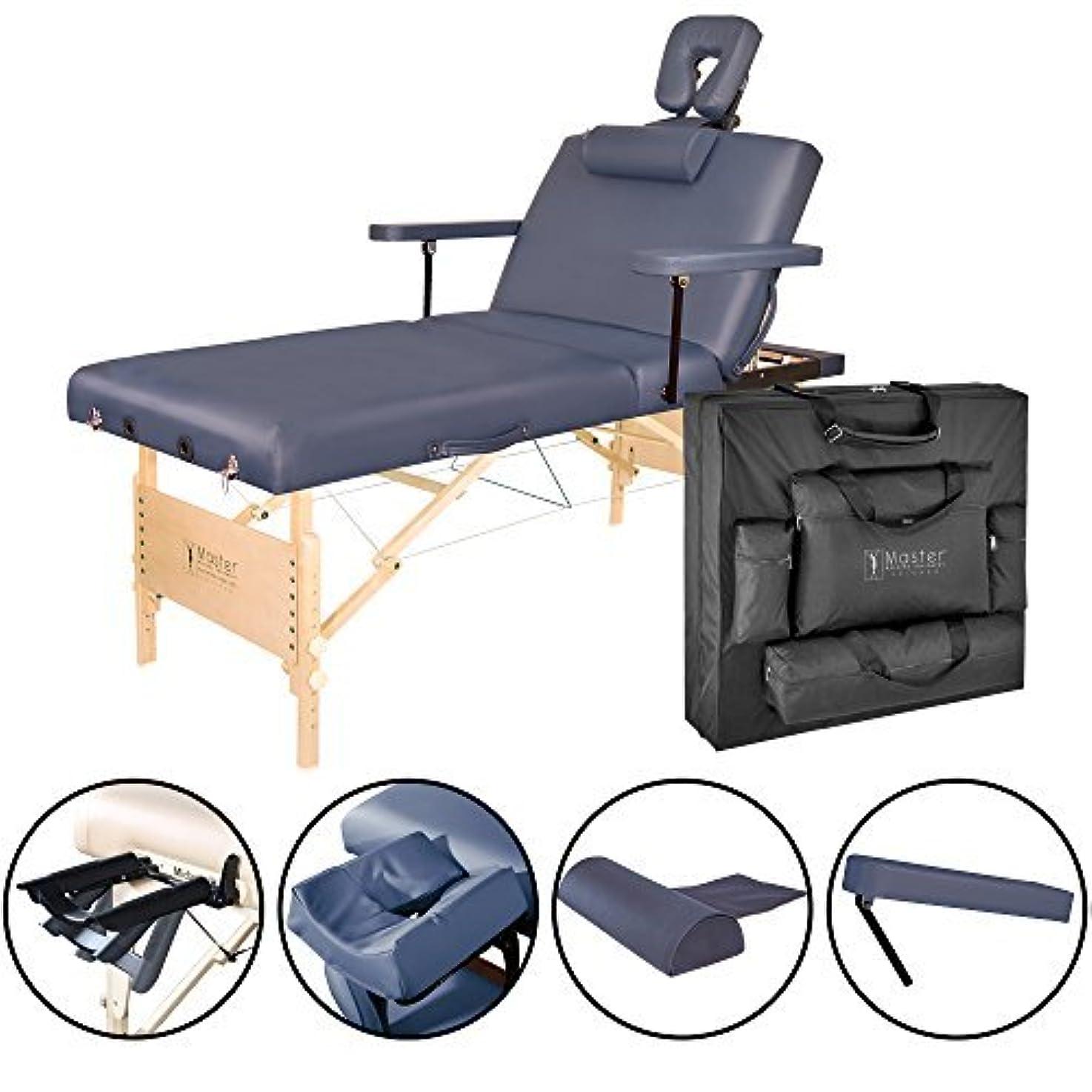 直径簿記係原稿Master Massage Coronado Salon LX Portable Massage Table Package Royal Blue 31 Inch [並行輸入品]
