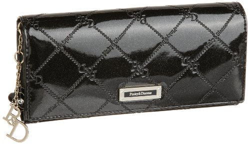 Pinky&Dianne(ピンキーアンドダイアン) チェックエナメル 薄型長財布 PDLW9MT2 10 (ブラック)