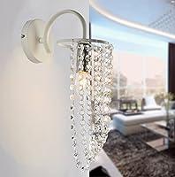 アメリカのベッドサイドランプランプベッドルームアイルクリエイティブヨーロピアン - スタイル現代ミニマリストリビングルームLEDウォールランプクリスタル