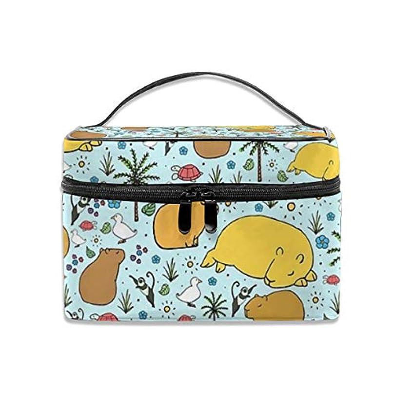 不正直征服者言い訳Capybaras化粧バッグポータブル旅行化粧品バッグオーガナイザージッパートイレタリーバッグ用女性