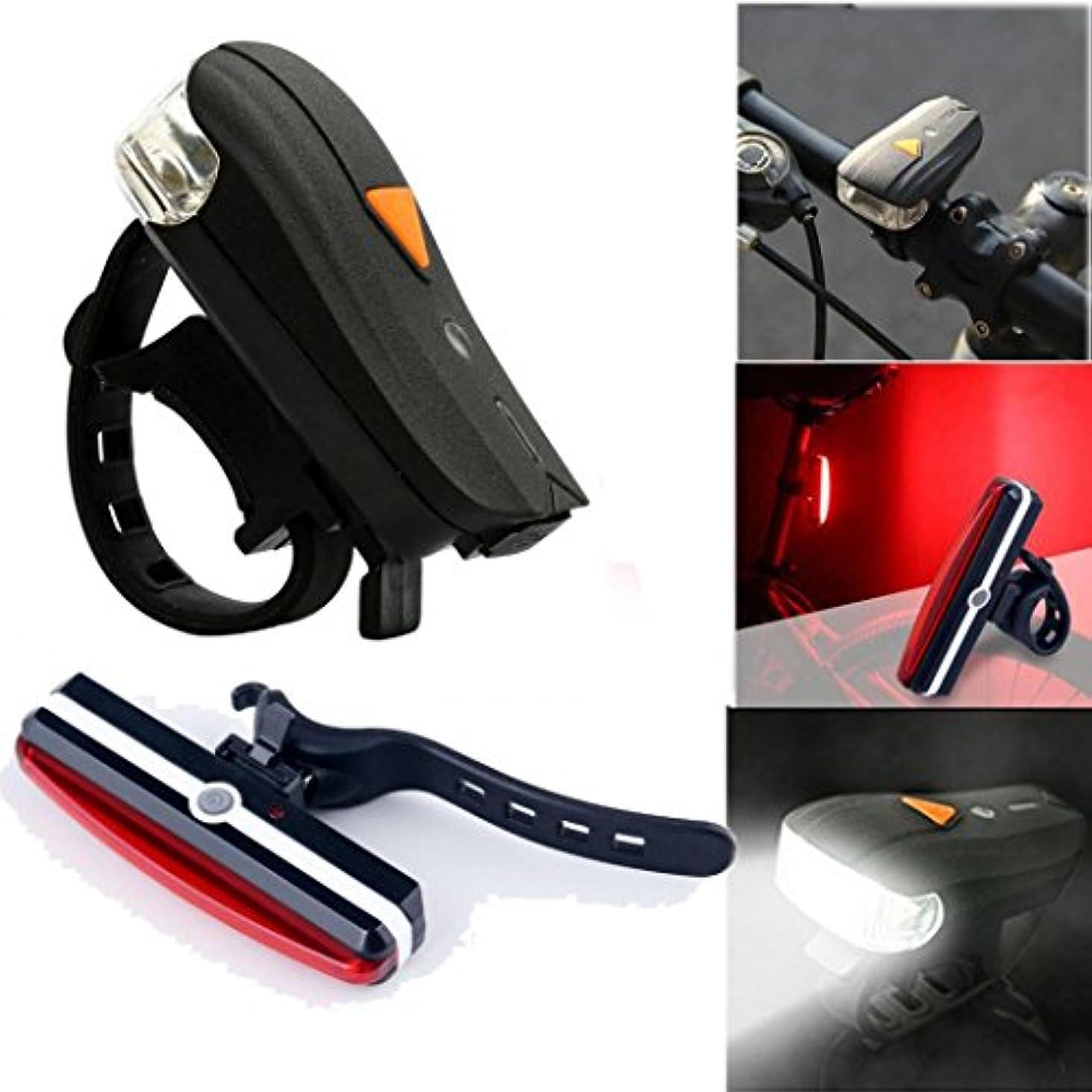 特派員すべて軍隊Sunsee USB充電式LEDバイクライト自転車フロントヘッドランプ安全テールリアランプ
