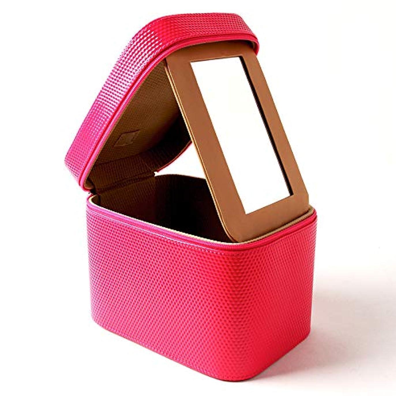 に関してシュガー誘惑メイクボックス ガールズ メイクポーチ 鏡付き 23×15×18cm 化粧ポーチ コスメ収納ポッチ 洗面用具入れ フック付き 収納バッグ おしゃれ 小物整理 超軽量 出張用 旅行用 化粧ケース