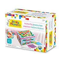 The Orb Factory Sticky Mosaics Butterfly Jewellery Box Arts and Crafts (821 Piece), Blue/Pink/Purple/Yellow, 21cm x 11cm x 16cm