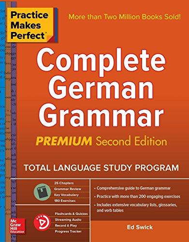 Download Practice Makes Perfect: Complete German Grammar, Premium Second Edition 1260121658